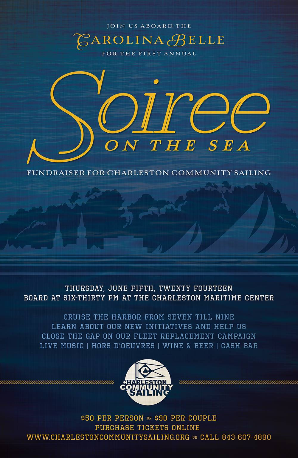 Soiree On The Sea Poster