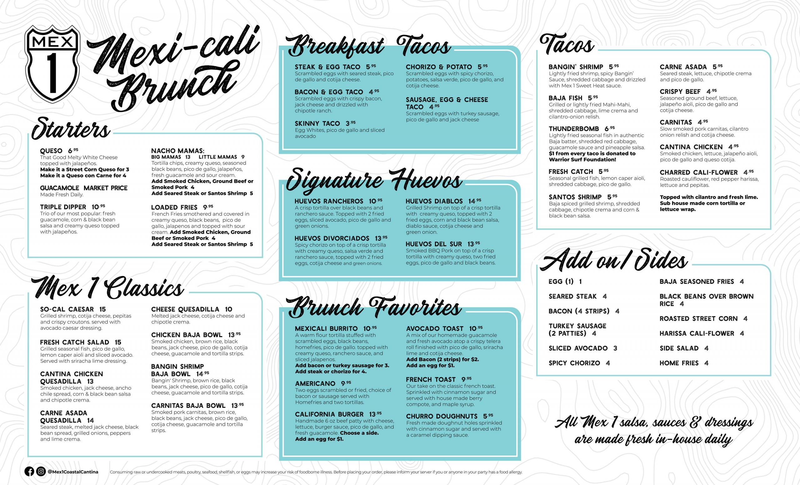 Mex 1 Brunch Menu