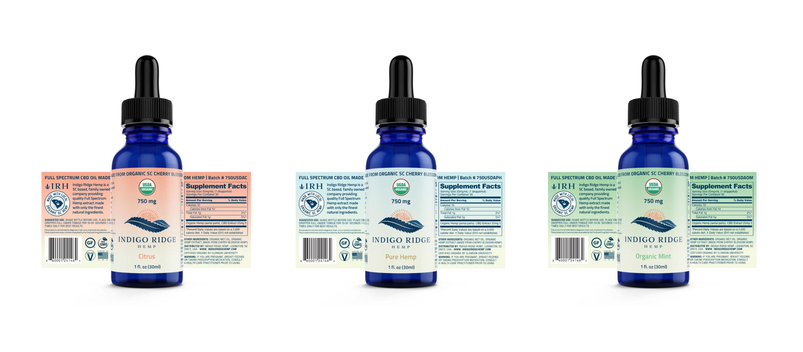 IRH Organic Tincture Labels