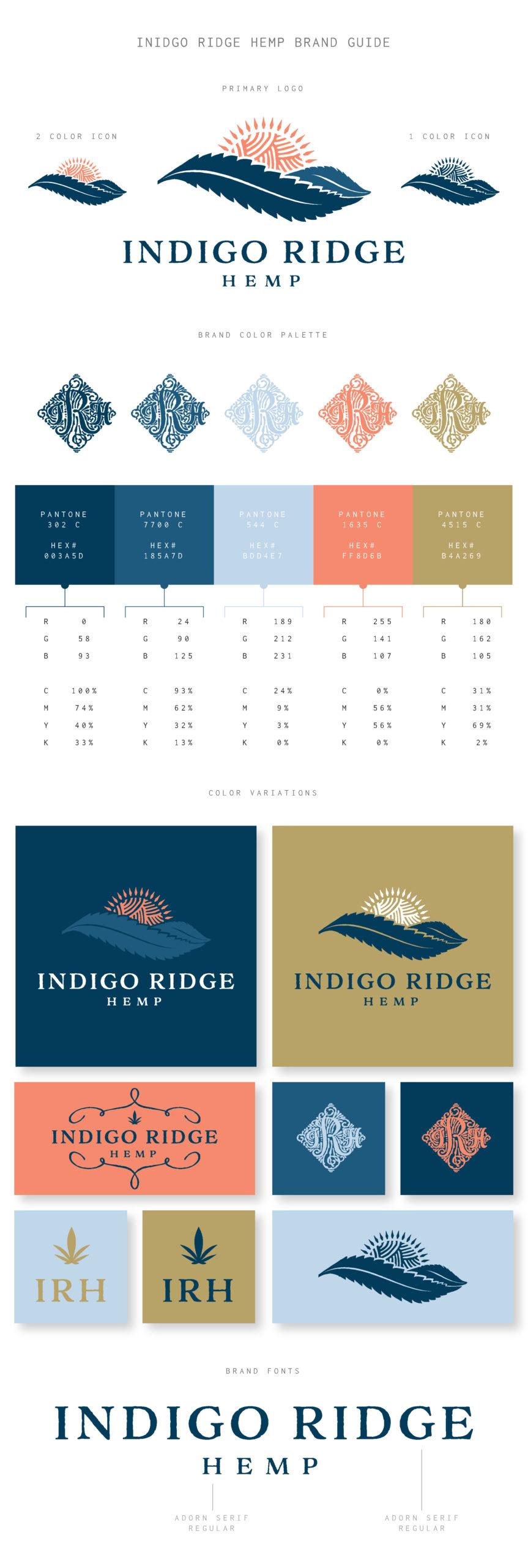 Indigo Ridge Hemp Brand Guide