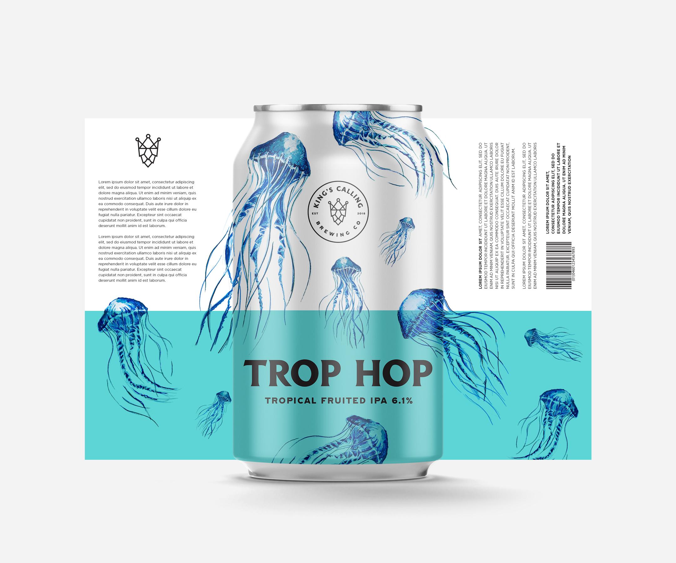 Trop Hop Can Design