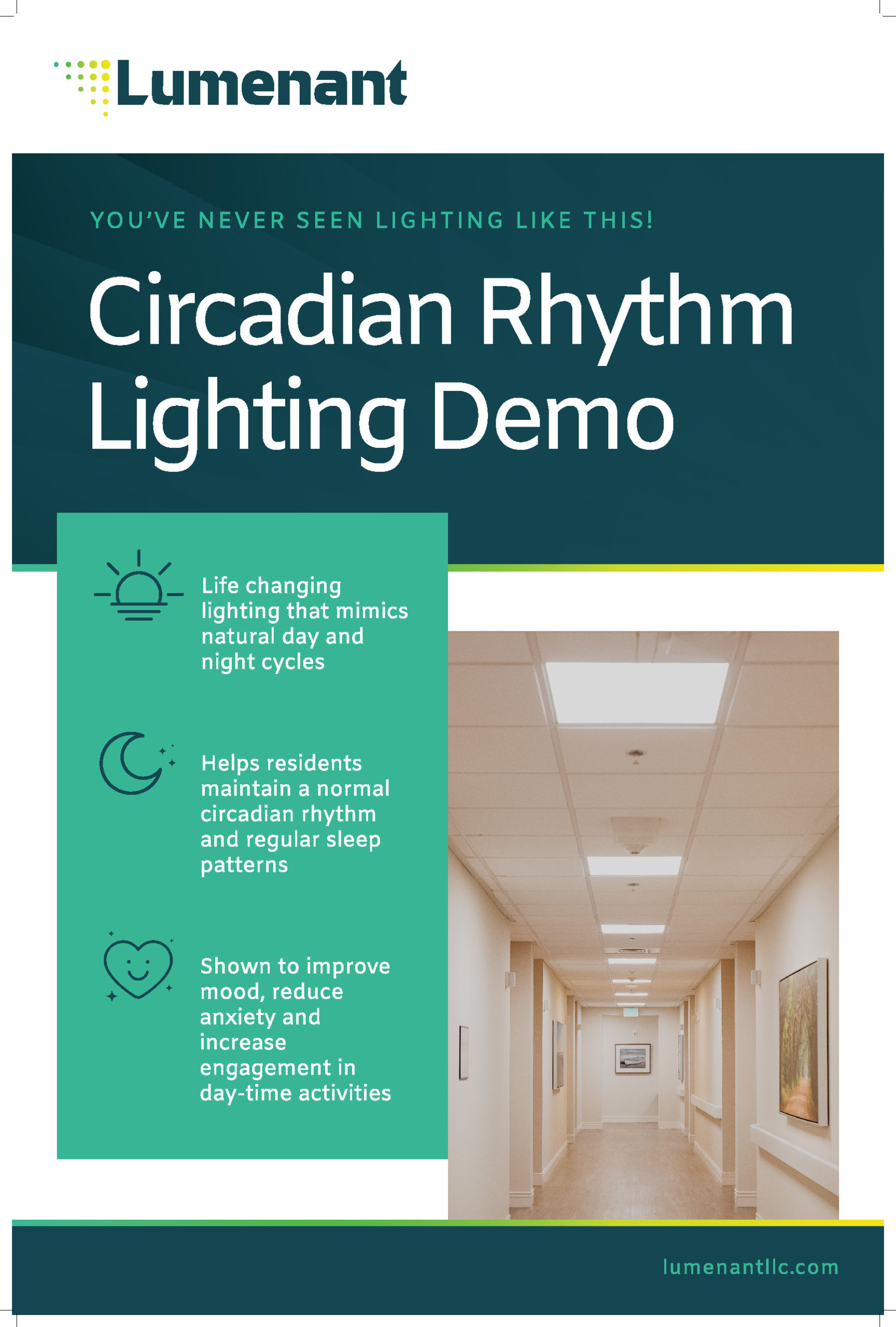 Lumenant Circadian Lighting Demo Sign