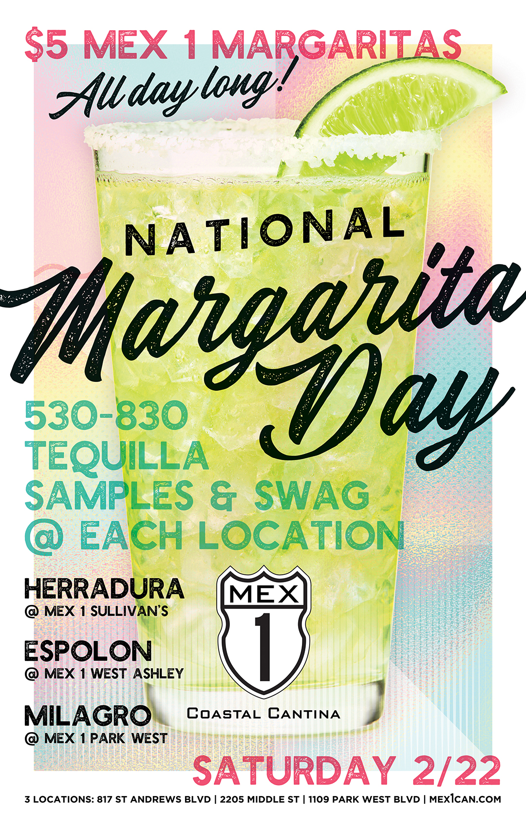 Mex 1 National Margarita Day Poster