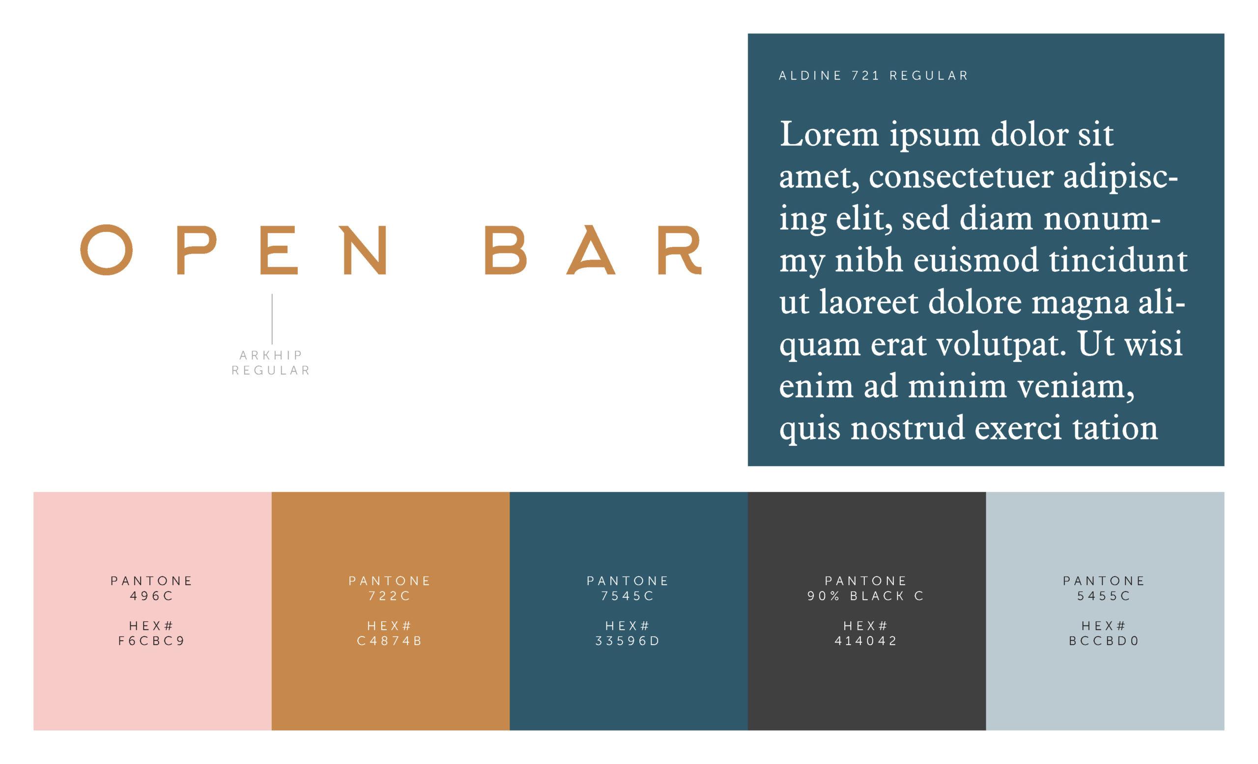Open Bar Colors