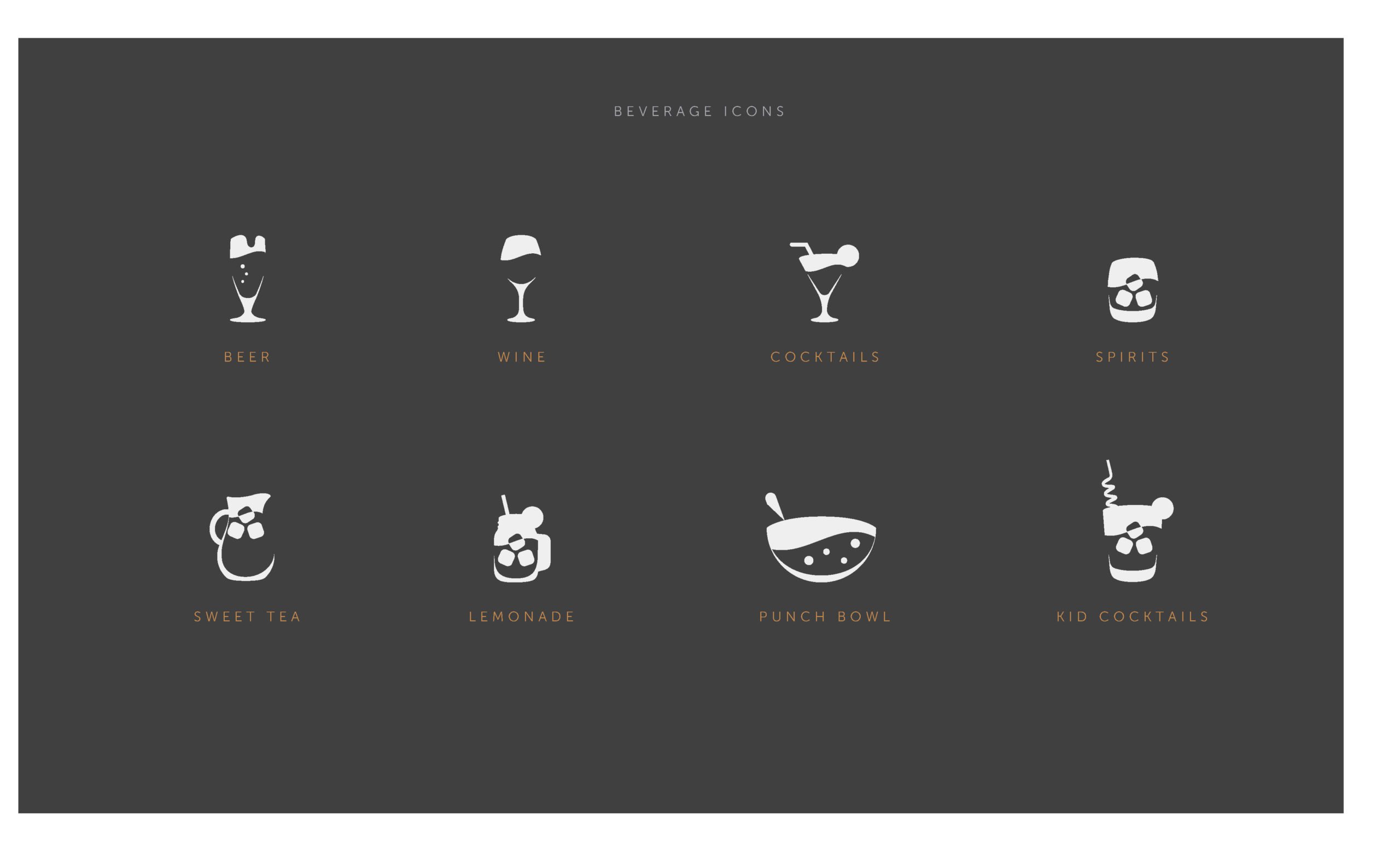 Open Bar Drink Icons