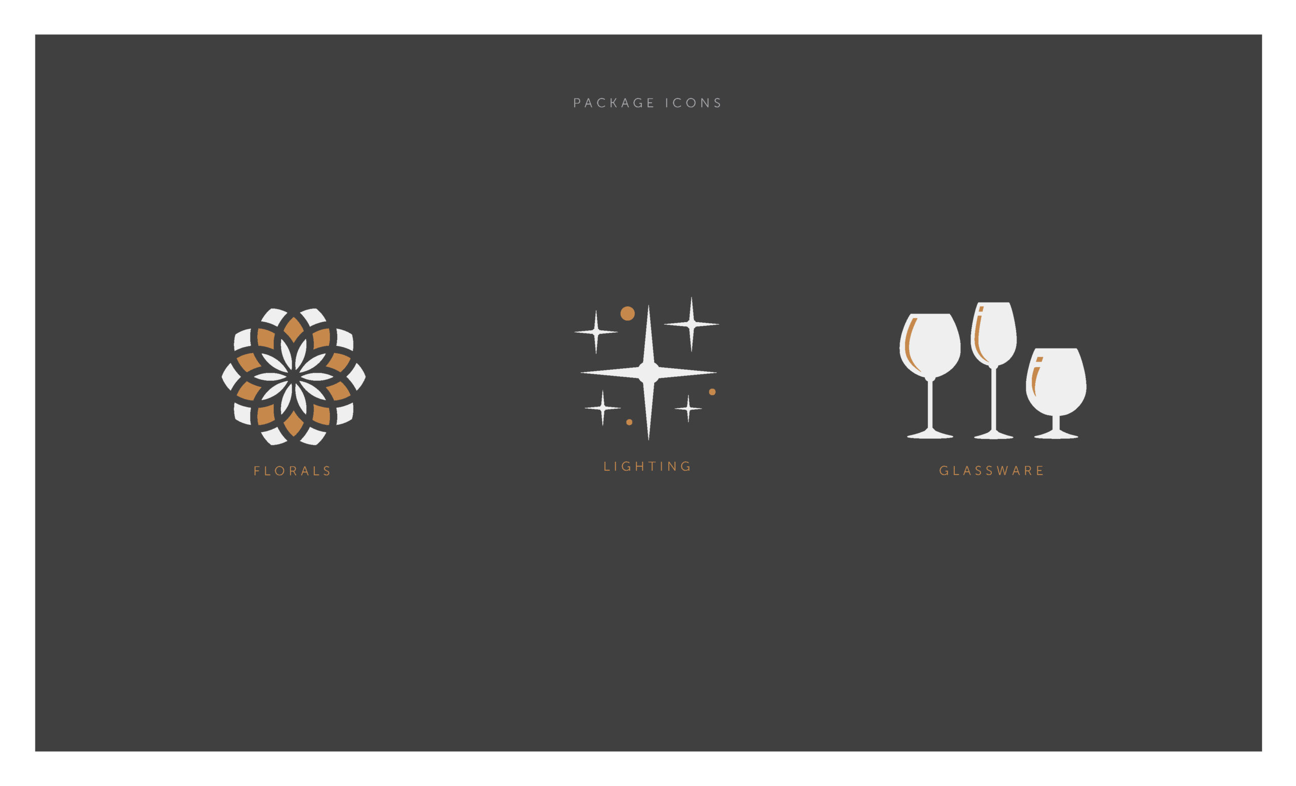 Open Bar Package Icons