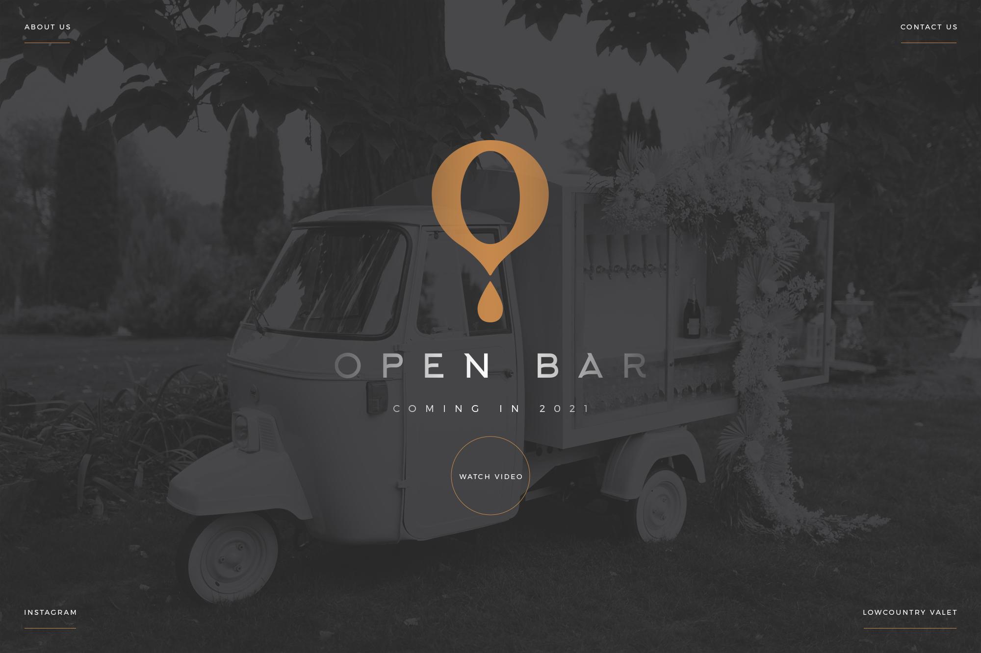 Open Bar Landing Page