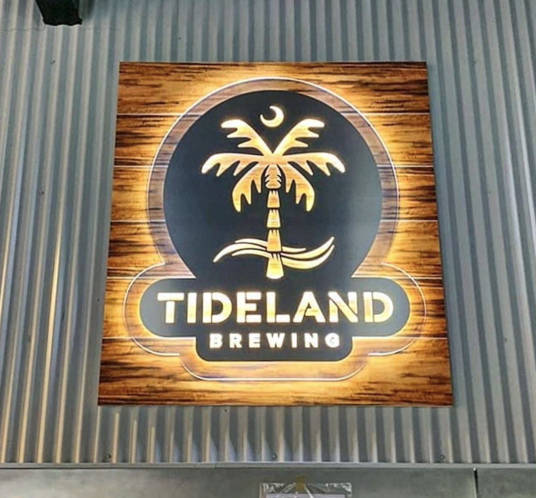Tideland Brewing Sign