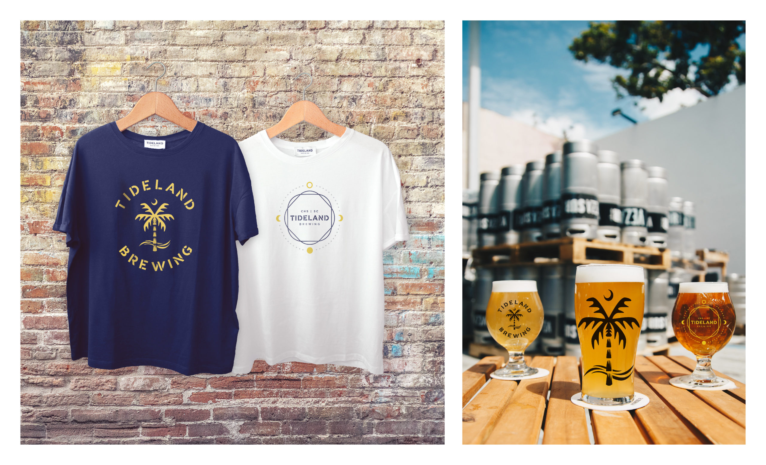 Tideland Brewing Shirts and Beers