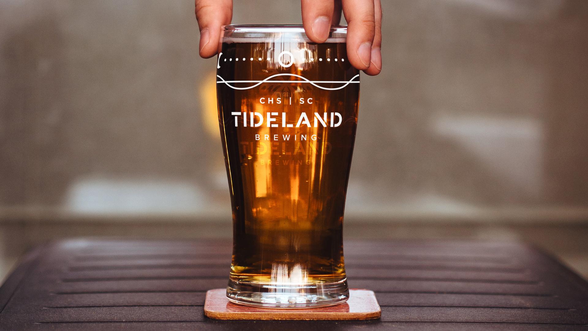 Tideland Brewing Pint Glass